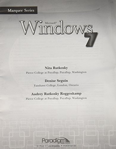 9780763840419: Microsoft Windows 7 Module (Marquee Series)