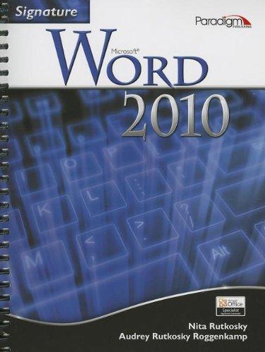 9780763842956: Signature Microsoft Word 2010 W/ CD