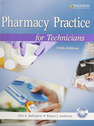 9780763852269: Pharmacy Practice for Technicians