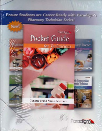 9780763852337: Pharmacology for Technicians