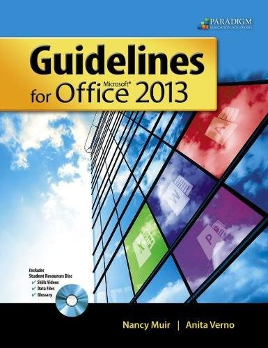 9780763852580: Guidelines for Microsoft Office 2013