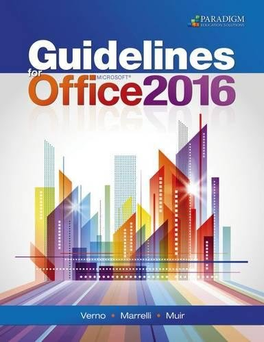 9780763867485 guidelines for microsoft office 2016 text abebooks