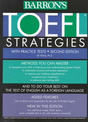 9780764102288: TOEFL Test Strategies: With Practice Tests