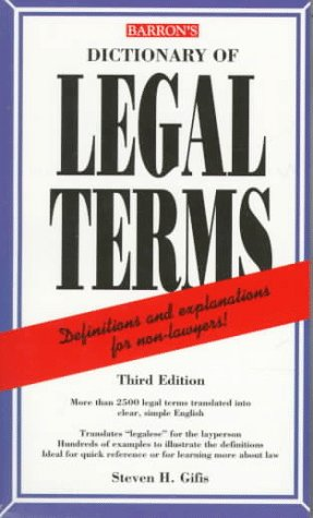9780764102868: Dictionary of Legal Terms