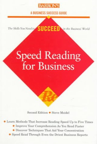 9780764104015: Speed Reading for Business (Barron's Business Success Series)