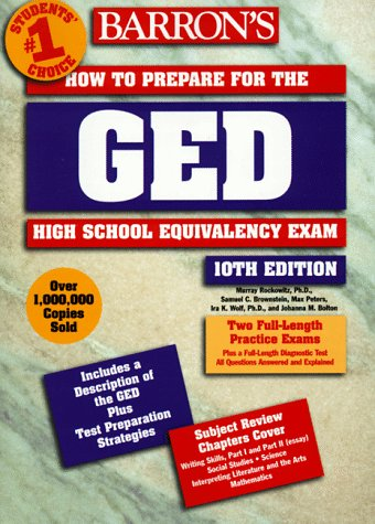 9780764104336: Barron's How to Prepare for the Ged: High School Equivalency Exam (Barron's How to Prepare for the Ged High School Equivalency Exam (Book Only))