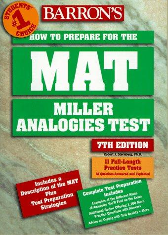 Barron's How to Prepare for the Mat: Sternberg, Robert J.,