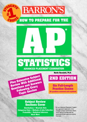 Barron's How to Prepare for the Ap Statistics: Advanced Placement