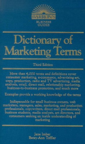 9780764112140: Dictionary of Marketing Terms (Barron's Business Guides)