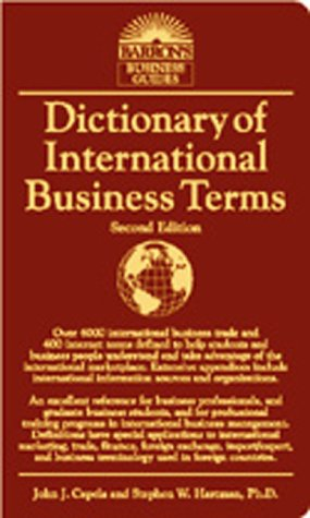9780764112638: Dictionary of International Business Terms (Barron's Business Guides)