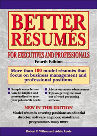 9780764113178 better resumes foe executives and professionals