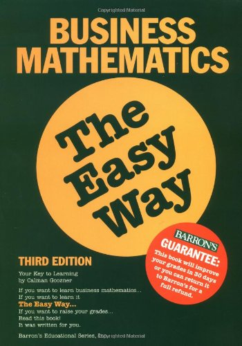 9780764113598: Business Math the Easy Way (Easy Way Series)