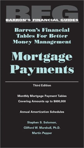 9780764118012: Mortgage Payments: Barron's Financial Tables for Better Money Management