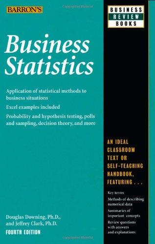 9780764119835: Business Statistics (Barron's Business Review Series)