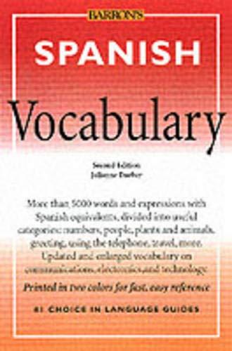 9780764119859: Spanish Vocabulary (Barron's Vocabulary Series)