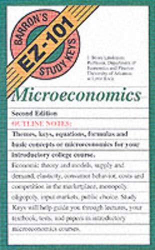 9780764120046: EZ-101 Microeconomics (Barron's Ez-101 Study Keys)