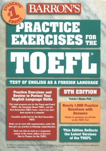 9780764120466: Practice Exercises for the TOEFL (Barron's Practice Exercises for the Toefl)