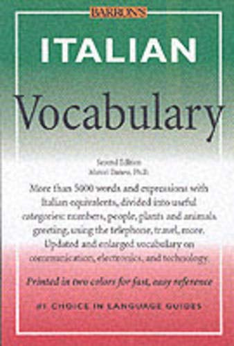 9780764121906: Italian Vocabulary (Barron's Vocabulary Series)