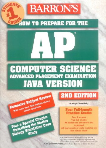 9780764121944: How to Prepare for the AP Computer Science Exam (BARRON'S HOW TO PREPARE FOR THE AP COMPUTER SCIENCE ADVANCED PLACEMENT EXAMINATION)