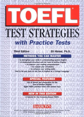 9780764123429: TOEFL Test Strategies with Practice Tests