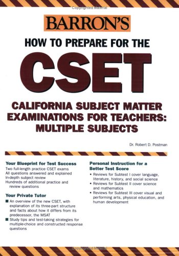 9780764123511: How to Prepare for the Cset: California