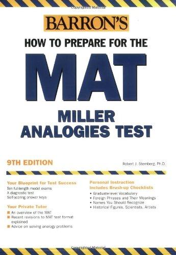 How to Prepare for the MAT: Miller: Robert J. Sternberg