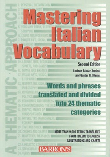 9780764123955: Mastering Italian Vocabulary: A Thematic Approach
