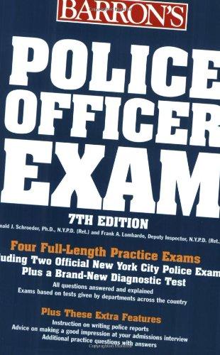 9780764124105: Police Officer Exam (Barron's Police Officer Exam)