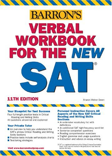 9780764124112: Verbal Workbook for the NEW SAT (Barron's SAT Critical Reading Workbook)