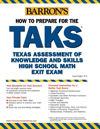 9780764124266: How to Prepare for the TAKS: Math Exit Exam: Texas Assessment of Knowledge and Skills (BARRON'S HOW TO PREPARE FOR THE TAKS MATH EXIT EXAM (TEXAS ASSESSMENT OF KNOWLEDGE))