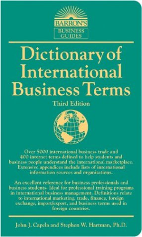 9780764124457: Dictionary of International Business Terms (Barron's Business Guides)