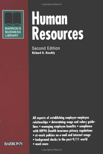 9780764124495: Human Resources (Barron's Business Library Series)