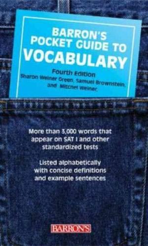 9780764126949: Barron's Pocket Guide to Vocabulary (Barron's Pocket Guides)