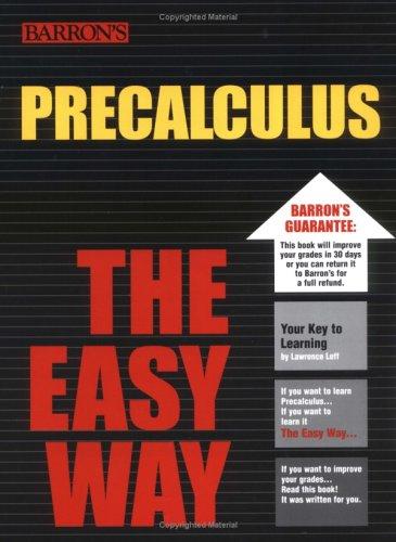 9780764128929: PreCalculus the Easy Way (Easy Way Series)