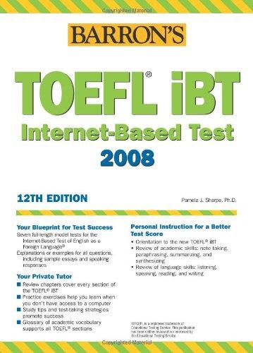 9780764133749: TOEFL iBT. Internet-Based Test 2008, 12th edition