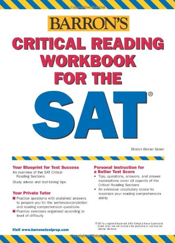 9780764133817: Critical Reading Workbook for the Sat