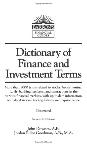 9780764134166: Dictionary of Finance and Investment Terms (Barron's Financial Guides)