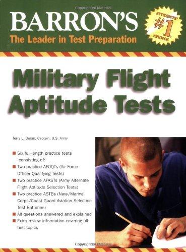9780764135170: Barron's Military Flight Aptitude Tests