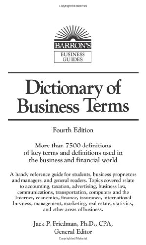 9780764135347: Dictionary of Business Terms (Barron's Business Guides)