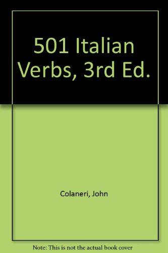 9780764135538: 501 Italian Verbs, 3rd Ed.