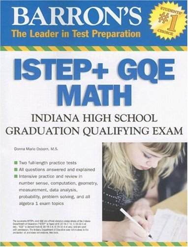 9780764136207: Barron's ISTEP + GQE - MATH: Indiana High School Graduation Qualifying Exam (Barron's Indiana ISTEP + GQE Math: Indiana High School Graduation Qualifying Exam)