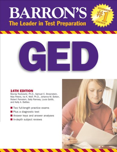 9780764136412: Barron's GED: High School Equivalency Exam, 14th Edition (Book only)