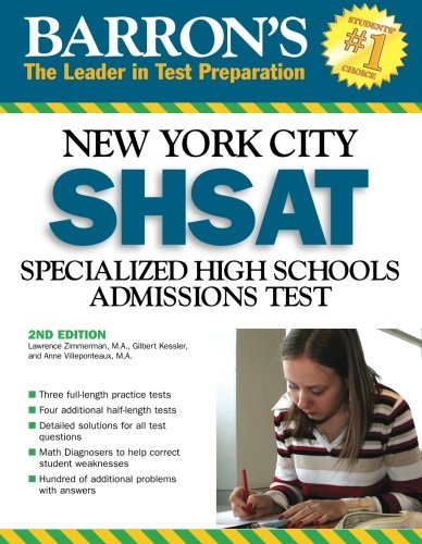 9780764136481: Barron's New York City SHSAT: Specialized High School Admissions Test (Barron's: The Leader in Test Preparation)