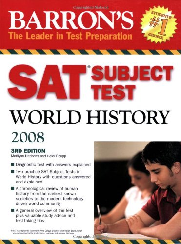 9780764136917: Barron's SAT Subject Test World History