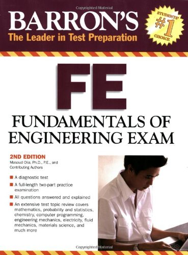 9780764137075: Barron's FE: Fundamentals of Engineering Exam