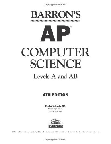 9780764137099: Barron's AP Computer Science, Levels A and AB