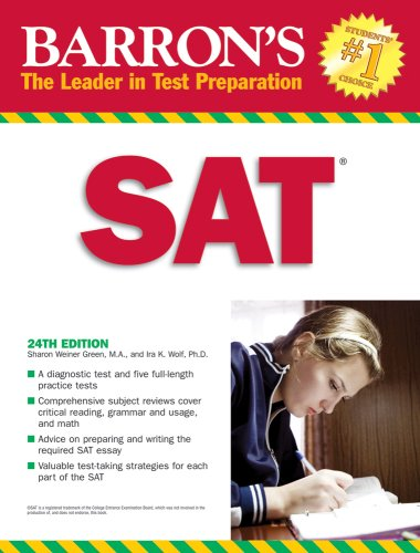 9780764138034: Barron's SAT (Book only)