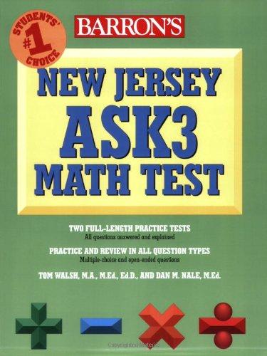 9780764139239: Barron's New Jersey ASK3 Math Test