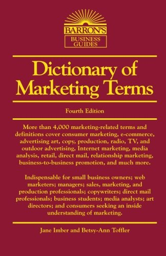 9780764139352: Dictionary of Marketing Terms (Barron's Business Dictionaries)