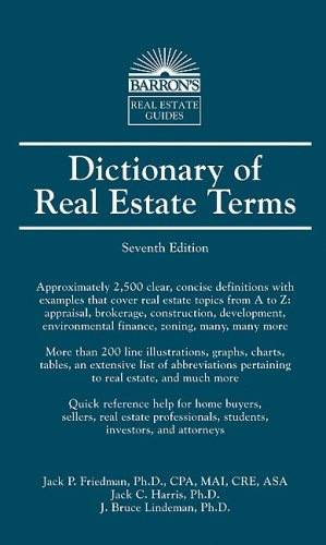 9780764139369: Dictionary of Real Estate Terms (Barron's Business Guides)